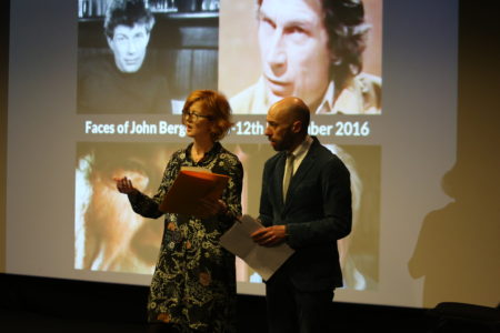 Organisers Lily Ford, of the Derek Jarman Lab, and Alfredo Cramerotti, of AICA-UK and Mostyn.