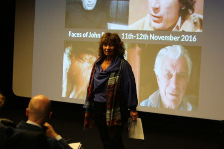 Lisa Appignanesi, OBE, giving a welcome during which she spoke about her collaborations with John from the Writers and Readers Publishing Cooperative onwards and reflected on his relevance to the current moment.