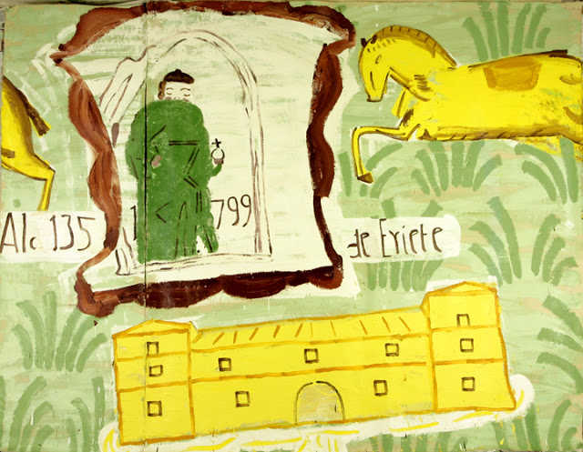 Rose Wylie, 2006 House & Horse oil on canvas